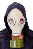 Man wearing a gas mask — Stock Photo