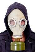 Man wearing a gas mask — Stock Photo