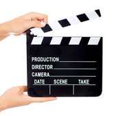 Movie clapperboard — Stock Photo