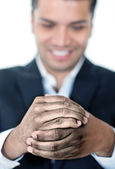 Business man with dirty hands — Stock Photo