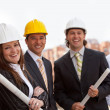Engineers at construction site — Stock Photo #10596594