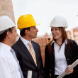Stock Photo: Engineers at construction site