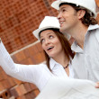 Engineers at construction site — Stock Photo #10597306