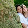Couple in love outdoors — Stockfoto