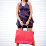 Shopping woman outdoors — Stock Photo