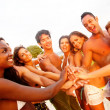 Friends at the beach — Stock Photo #10597783