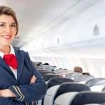 Air hostess — Stock Photo