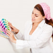Woman painting a wall — Stock Photo