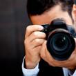 mężczyzna paparazzi — Zdjęcie stockowe