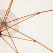 Inside of a white parasol - Photo