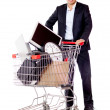 Buying office supplies — Stock Photo