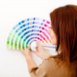 Stock Photo: Woman with color guide