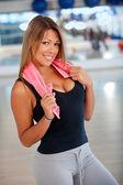 Beautiful woman gym — Stockfoto