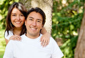 Family portrait - brother and sister Family portrait - brother a — Stock Photo