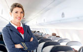 Air hostess — Stockfoto