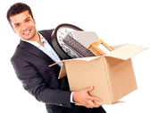 Businessman moving office — Stock Photo