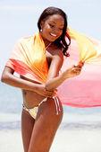 围裙黑女人 — 图库照片