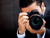Male paparazzi — Stock Photo