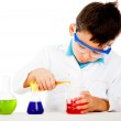 Boy at the lab — Stock Photo