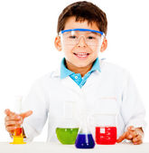 Boy making experiments — Stock Photo