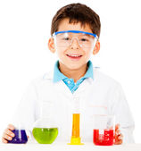Scientist boy — Stock Photo
