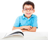 Boy studying — Stockfoto