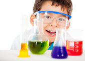 Happy little scientist — Stock Photo