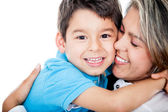 Affectionate mother and son — Stock Photo