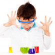 Boy doing experiments — Stock Photo #10717441