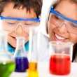 Mother and son at the lab — Stock Photo #10717533