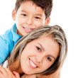 Happy boy with his mother — Stock Photo #10717583