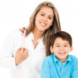 Pediatrician with a patient — Stock Photo