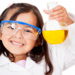 Girl playing at the lab — Stockfoto