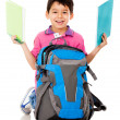 Boy with a school bag — Stock Photo
