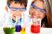 Mother and son at the lab — Stock Photo