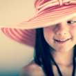 Beautiful girl with a hat — Stock Photo