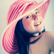 Summer girl with a hat — Stock Photo