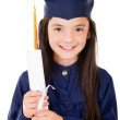 Girl in her graduation — Stock Photo