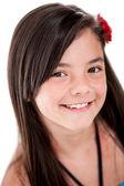 Krásná dívka s úsměvem — Stock fotografie