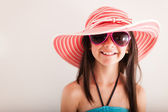 Happy summery girl — Stock Photo