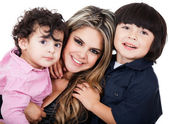 Mother with two sons — Stock Photo