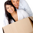 Loving couple moving house — Stock Photo #8831913