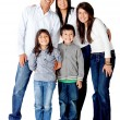 Latin american family — Stockfoto
