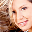 Healthy blond hair - Stok fotoraf