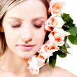 Woman with roses — Stock Photo #8831923