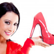Stock Photo: Woman with high-heels