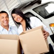 Royalty-Free Stock Photo: Couple moving house