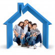 Foto Stock: Family house
