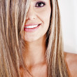 Stok fotoğraf: Straight blond hair