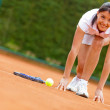 Competitive tennis player — Stock Photo